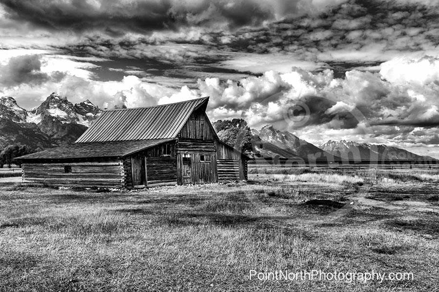 T. A. MOULTEN BARN - B&W-Point North Photography Categories of Photography of Prints for Purchase