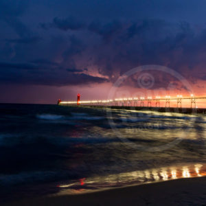 Point North Photography-LIGHTNING STORM GRAND HAVEN, MI