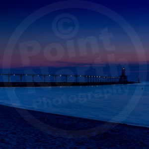 Point North Photography-PIER WITH CRESCENT MOON